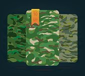 The fabric on military camouflage on background