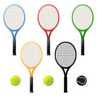 Tennis rackets and tennis-balls