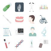 Medical icons set. Vector collection of medical equipment or medical