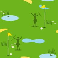 Golf Seamless Pattern Female