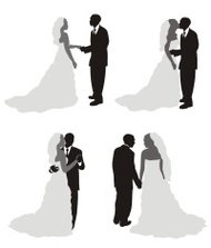 Just Married Silhouette