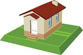 small isometric house