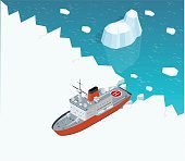 Isometric nuclear-powered icebreaker