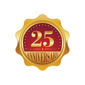 25 years anniversary golden label