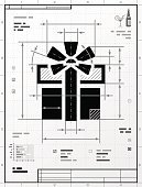 Gift symbol as technical drawing
