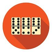 Domino icon in flat style isolated on white background. Board