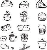 Doodle of food object vector