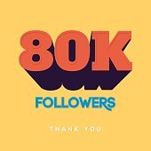 Vector thanks design template for network friends and followers. Thank
