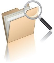 File Folder with Magnifying Glass