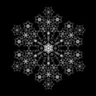 Snowflake made of smaller flakes