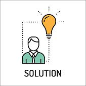 Solution Line Icon