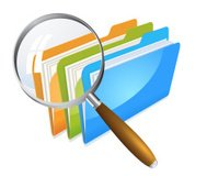 files increased by magnifying glass