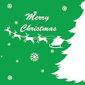 Christmas card template with reindeers