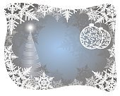bright blue Christmas background