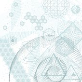 Sacred geometry elements background