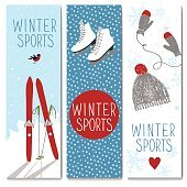 Set of 3 lovely winter cards templates.