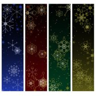 Winter snowflake banners
