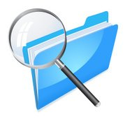 file increased by magnifying glass