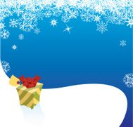 Present in the Christmas Snow Background