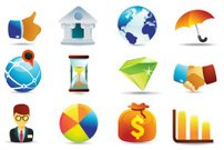 Universal icons | business and finance