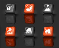 disaster internet royalty free vector icon set