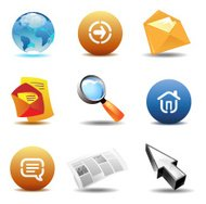 Icons for internet