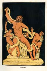 Laocoon in the coils of snakes