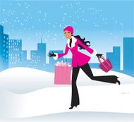 Shopping in the winter