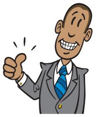African American Businessman Thumbs Up