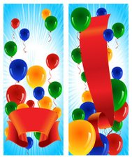 Celebration Banners with Balloons