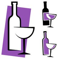 wine bottle and glass design