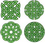Set of four celtic knots