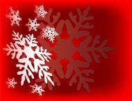Snow Flakes Background - Vector