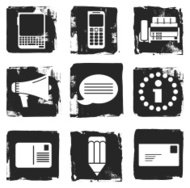 Grunge office icons