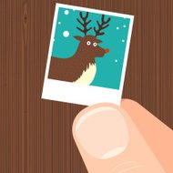 Rudolf the red nosed reindeer picture character illustration