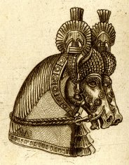 Assyrian Horse Relief | Antique History Illustrations