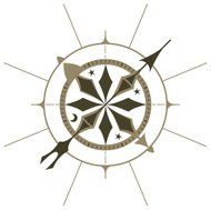 Ornate compass rose
