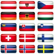 Central and Northern Europe Rectangular Flags