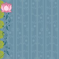 Floral Background Pink and Blue