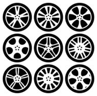 Black Silhouettes -  Alloy Wheels