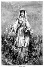 Ode to Spring - Victorian illustration of girl with flowers