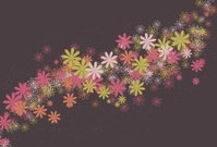 messy swirling abstract flower background