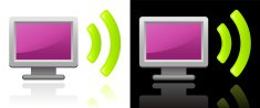wireless internet signal design on black and white Backgrounds