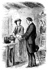 People in a kitchen (Victorian illustration)