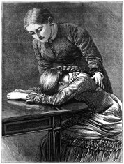 One young woman consoling another - Victorian illustration