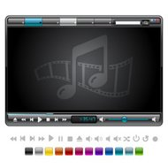 Simple Media Player with 12 Color Themes