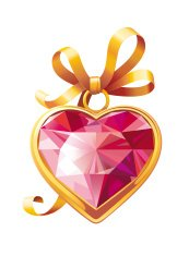 Valentine's Gold heart shaped pendant with golden bow