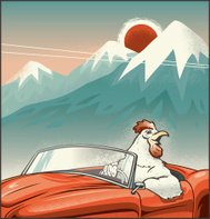 Rooster Driving Convertible