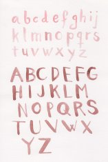 Painted watercolor uppercase alphabets