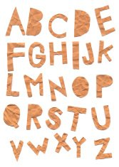 Paper cutout uppercase alphabets - A to Z